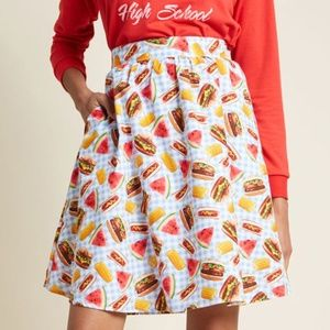 Modcloth lively vibe skirt in picnic 4x